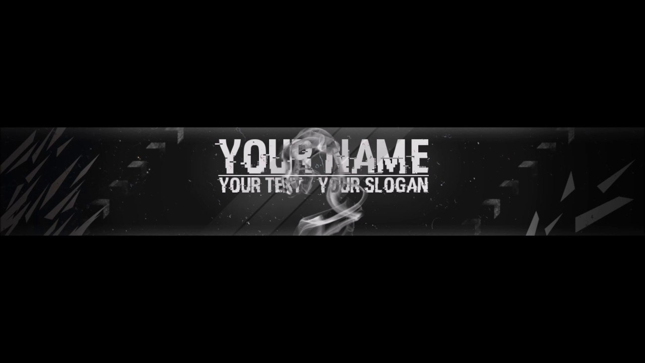 Free Epic Youtube Banner  Channel Art Template  Gimp And Photoshop   Download Hacked Style Throughout Gimp Youtube Banner Template