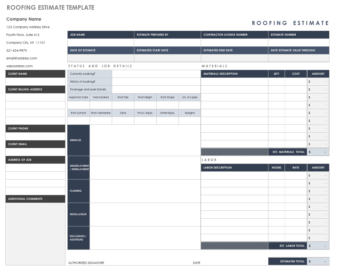 Free Estimate Templates  Smartsheet With Work Estimate Template Word