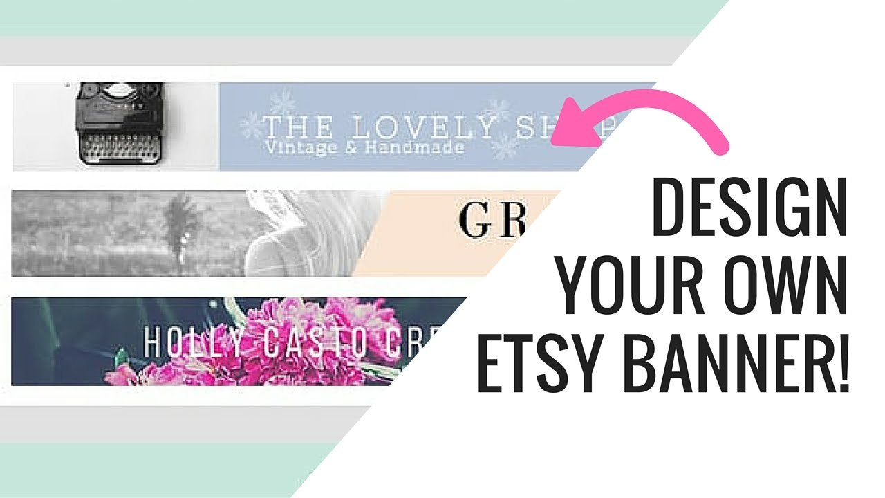 Free Etsy Banner Maker And Easy Tutorial Using Canva  Youtube Pertaining To Etsy Banner Template