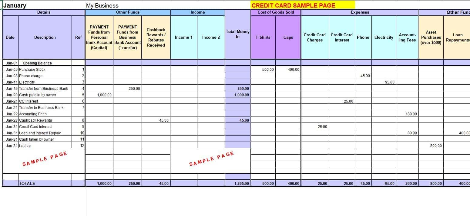 Free Excel Bookkeeping Templates For Bookkeeping Templates For Small Business Excel