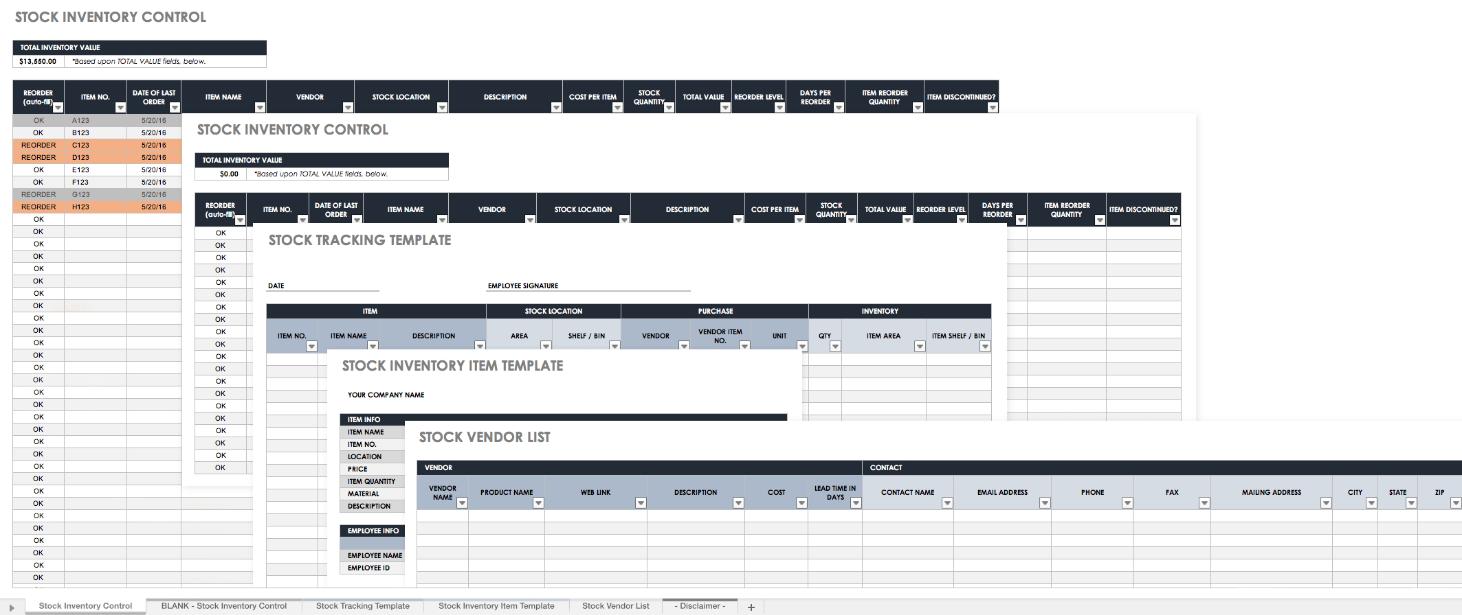 Free Excel Inventory Templates Create  Manage  Smartsheet For Stock Report Template Excel