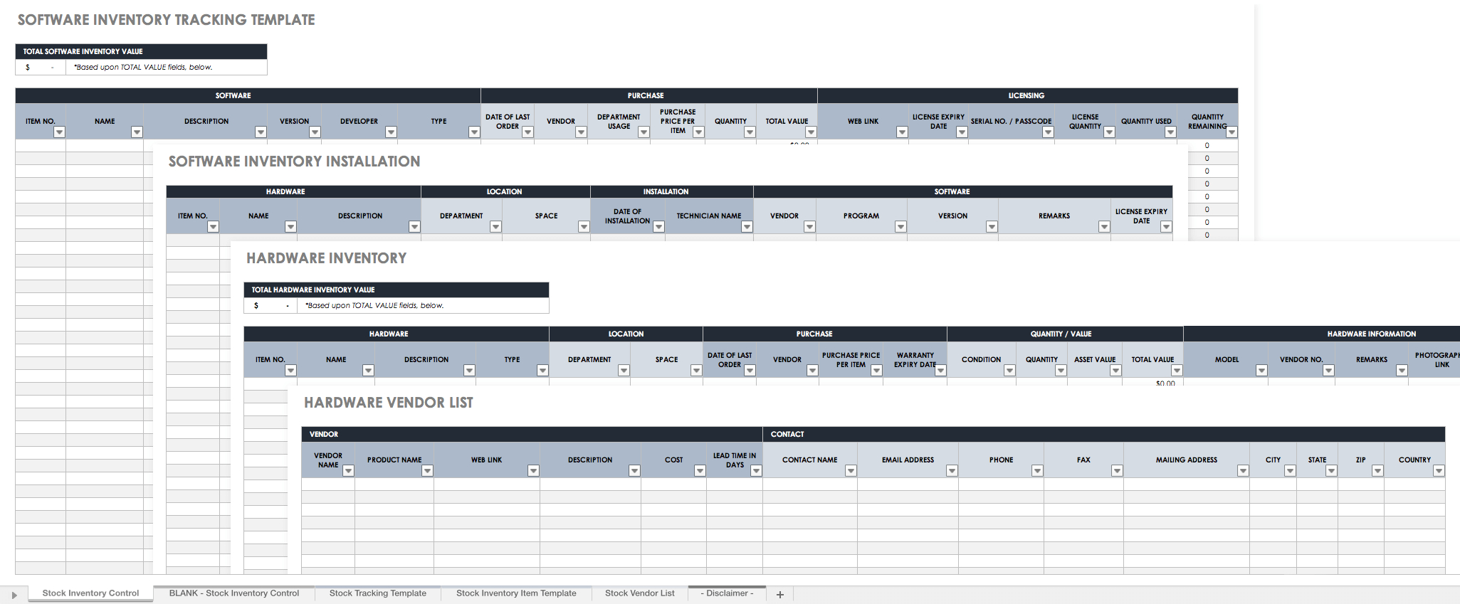 Free Excel Inventory Templates Create  Manage  Smartsheet Intended For Small Business Inventory Spreadsheet Template