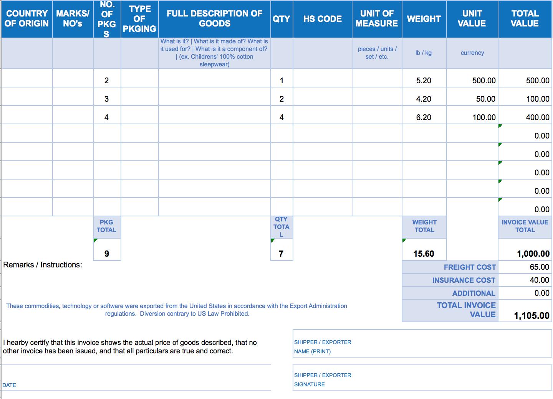 Free Excel Invoice Templates  Smartsheet For Excel Invoice Template 2003