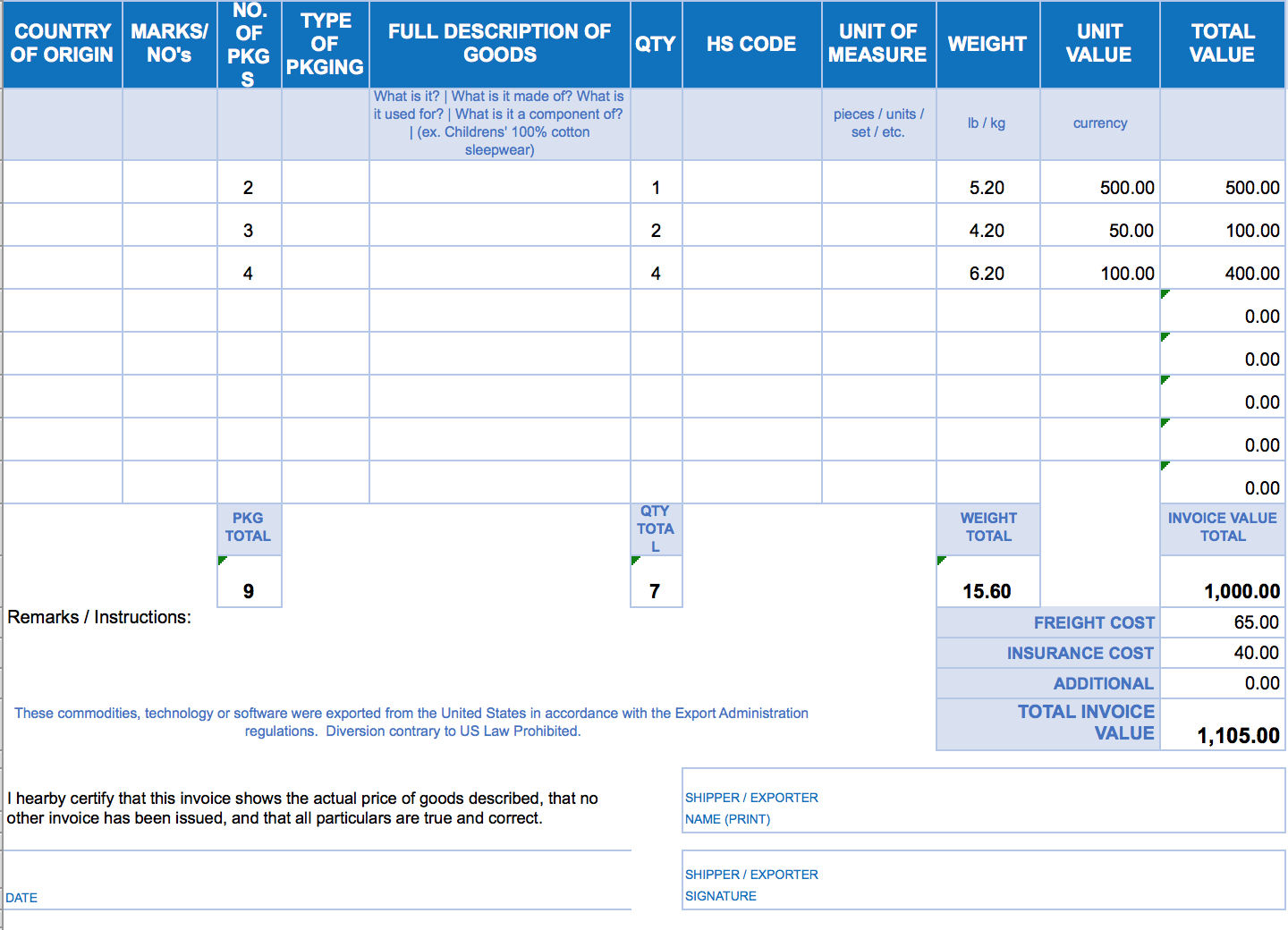 Free Excel Invoice Templates  Smartsheet Throughout Xl Invoice Template