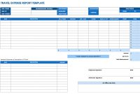 Free Expense Report Templates Smartsheet with Expense Report Spreadsheet Template Excel