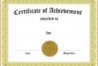 Free Family Reunion Certificates Templates Certificate Award throughout Template For Certificate Of Award