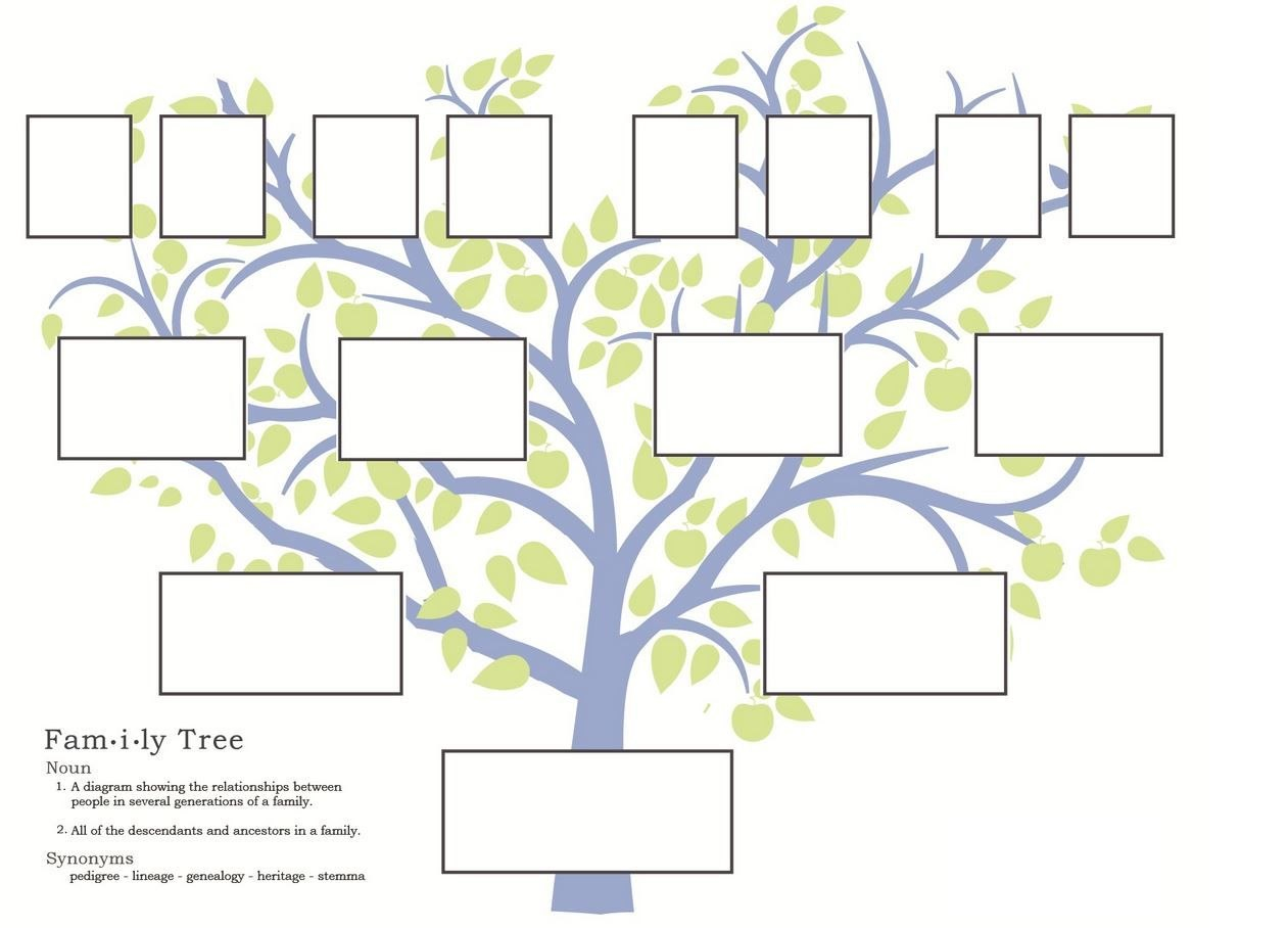 Free Family Tree Template To Print  Google Search …  Grandparents Inside Powerpoint Genealogy Template
