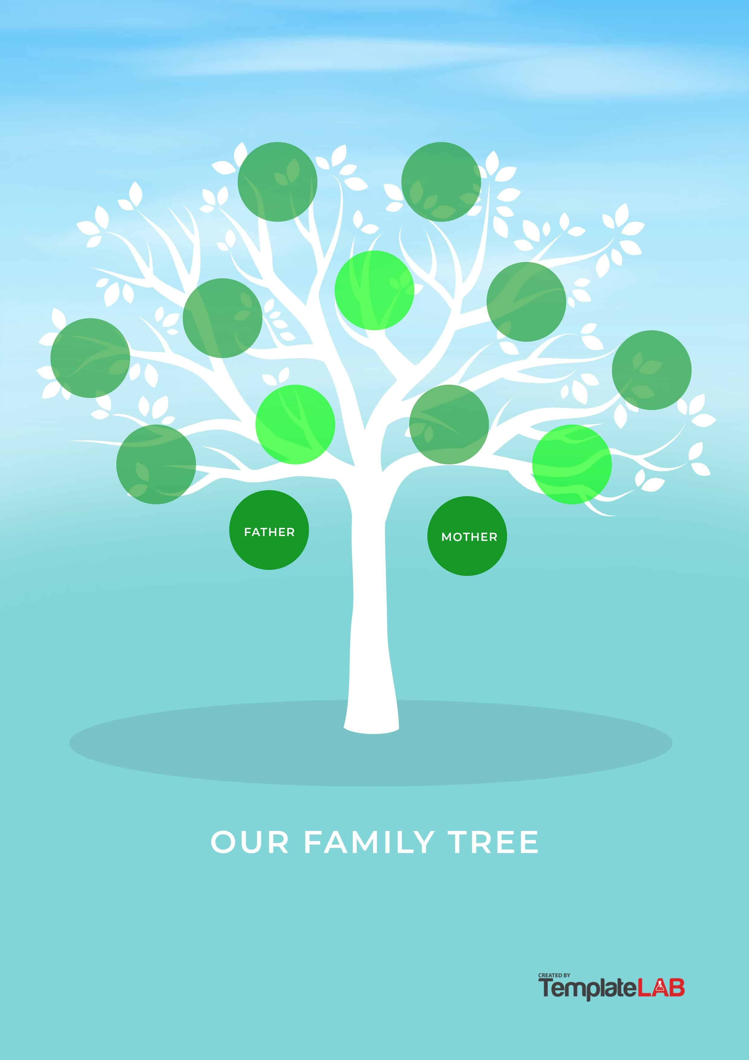 Free Family Tree Templates Word Excel Pdf ᐅ Template Lab For Fill In The Blank Family Tree Template