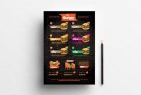 Free Fast Food Menu Template For Photoshop  Illustrator  Brandpacks in Fast Food Menu Design Templates