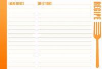 Free Fillable Recipe Card Template  Pictimilitude with Fillable Recipe Card Template