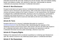 Free Film Movie Nondisclosure Agreement Nda  Pdf  Word Docx regarding Non Disclosure Non Circumvention Agreement Template