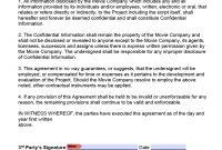 Free Film Movie Nondisclosure Agreement Nda Template  Pdf  Word for Film Non Disclosure Agreement Template