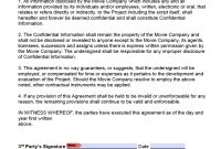 Free Film Movie Nondisclosure Agreement Nda Template  Pdf  Word in Tv Show Sponsorship Agreement Template
