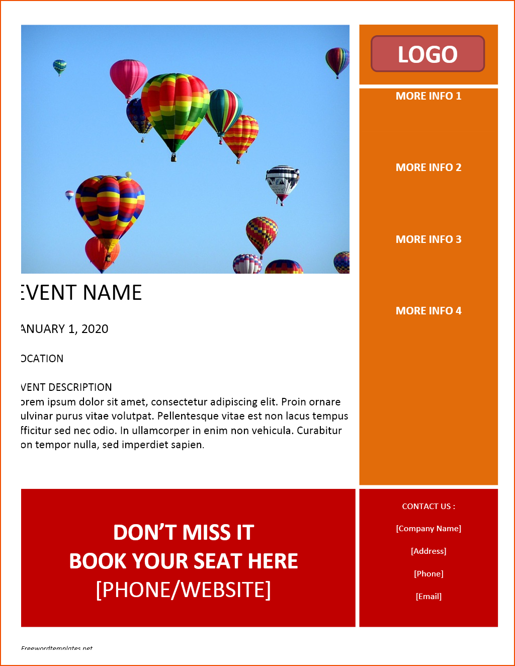 Free Flyer Template Word  Bookletemplate Intended For Free Business Flyer Templates For Microsoft Word