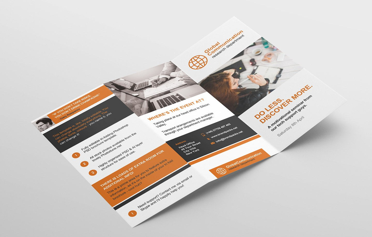 Free Fold Brochure Template For Photoshop  Illustrator  Brandpacks With Regard To 3 Fold Brochure Template Free