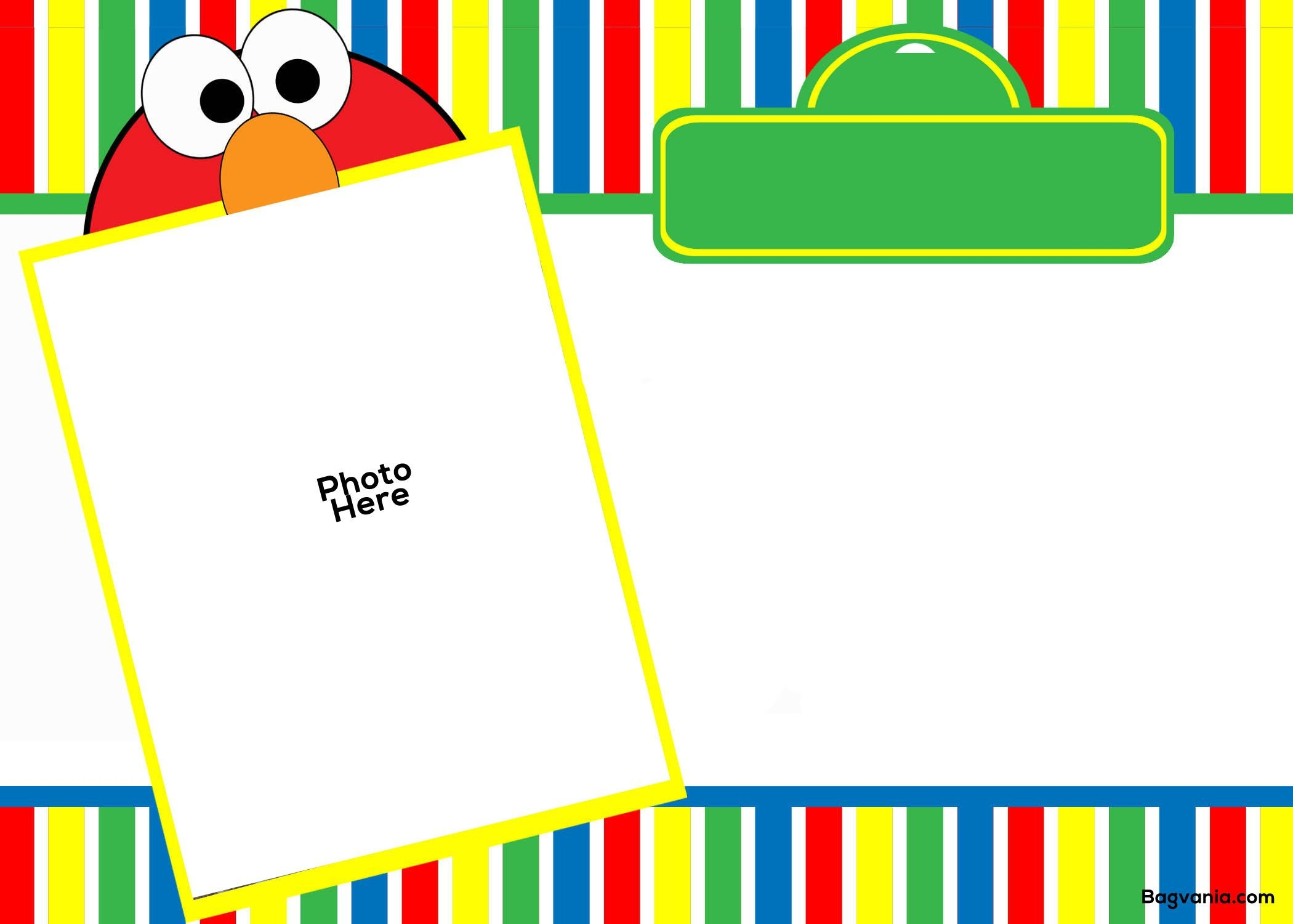 Free Free Printable Elmo Birthday Invitations  Bagvania Invitation In Elmo Birthday Card Template