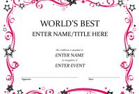 Free Funny Award Certificates Templates  Worlds Best Custom Award in Fun Certificate Templates