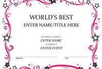 Free Funny Award Certificates Templates  Worlds Best Custom Award regarding Superlative Certificate Template