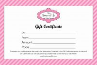 Free Gift Certificate Template Word Generic Certificates Print within Generic Certificate Template