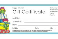 Free Gift Certificate Templates You Can Customize for Generic Certificate Template