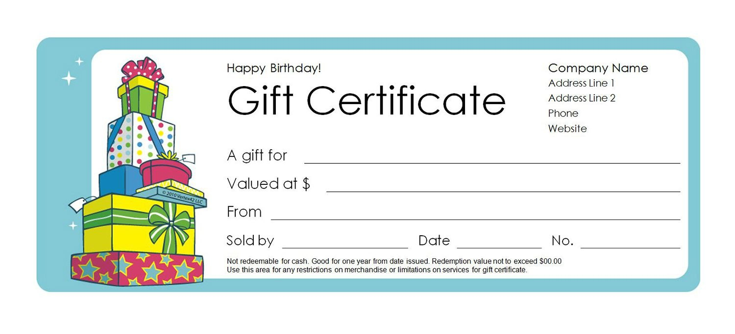 Free Gift Certificate Templates You Can Customize Inside Kids Gift Certificate Template