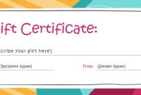 Free Gift Certificate Templates You Can Customize Within Gift intended for Pages Certificate Templates