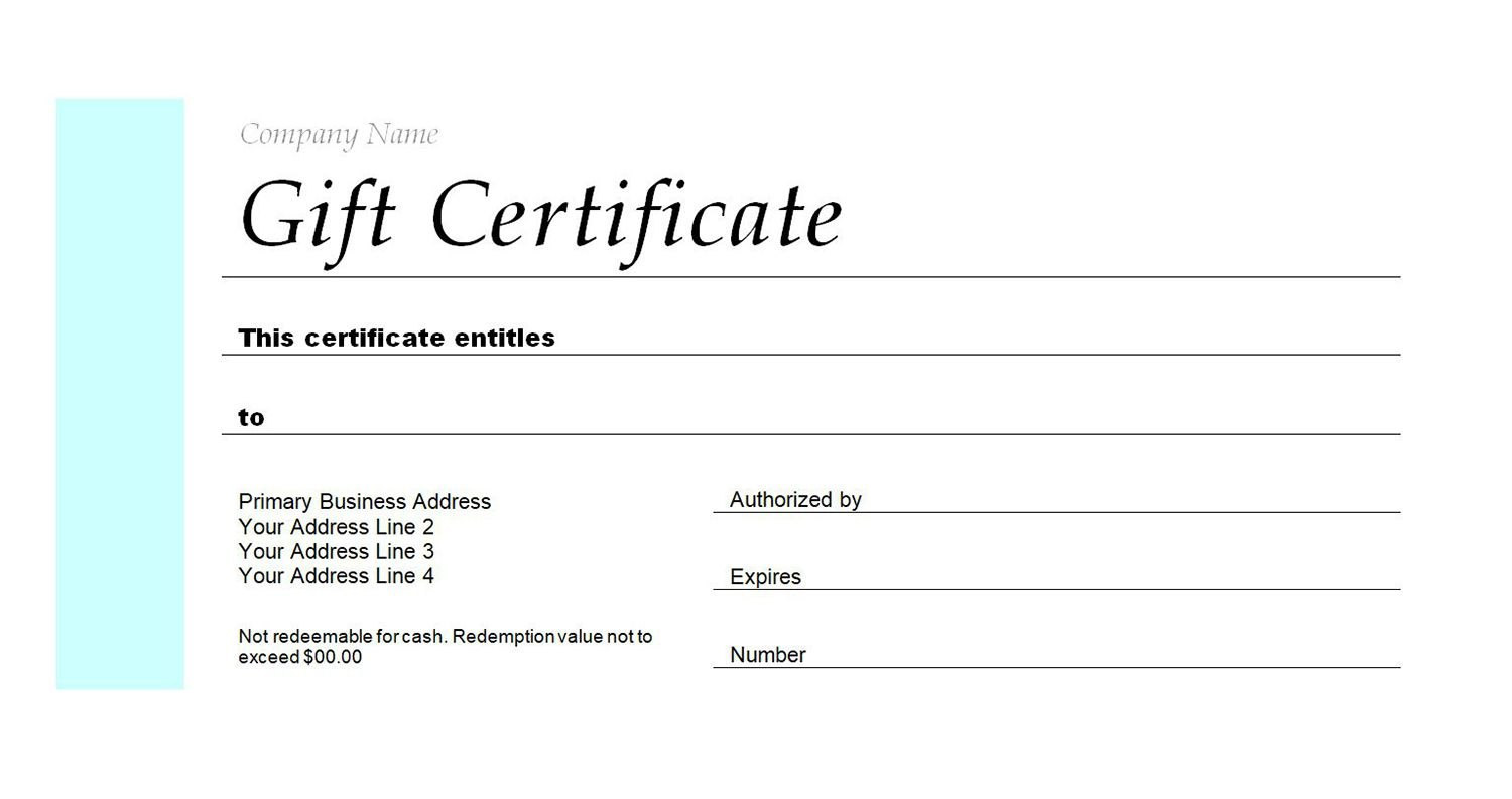 Free Gift Certificate Templates You Can Customize Within Publisher Gift Certificate Template
