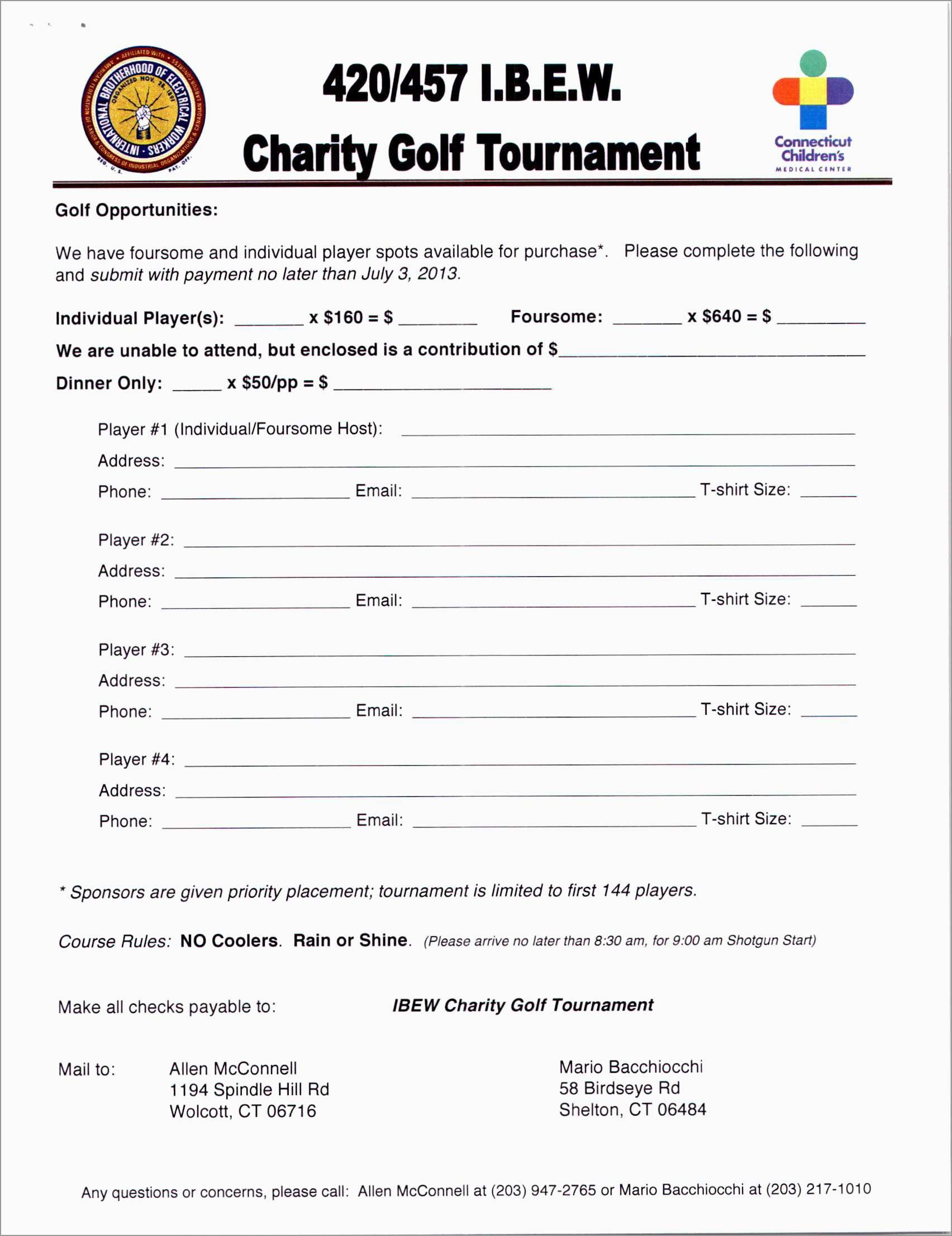 Free Golf Tournament Registration Form Template Fabulous Sponsorship Regarding Golf Tournament Sponsorship Agreement Template
