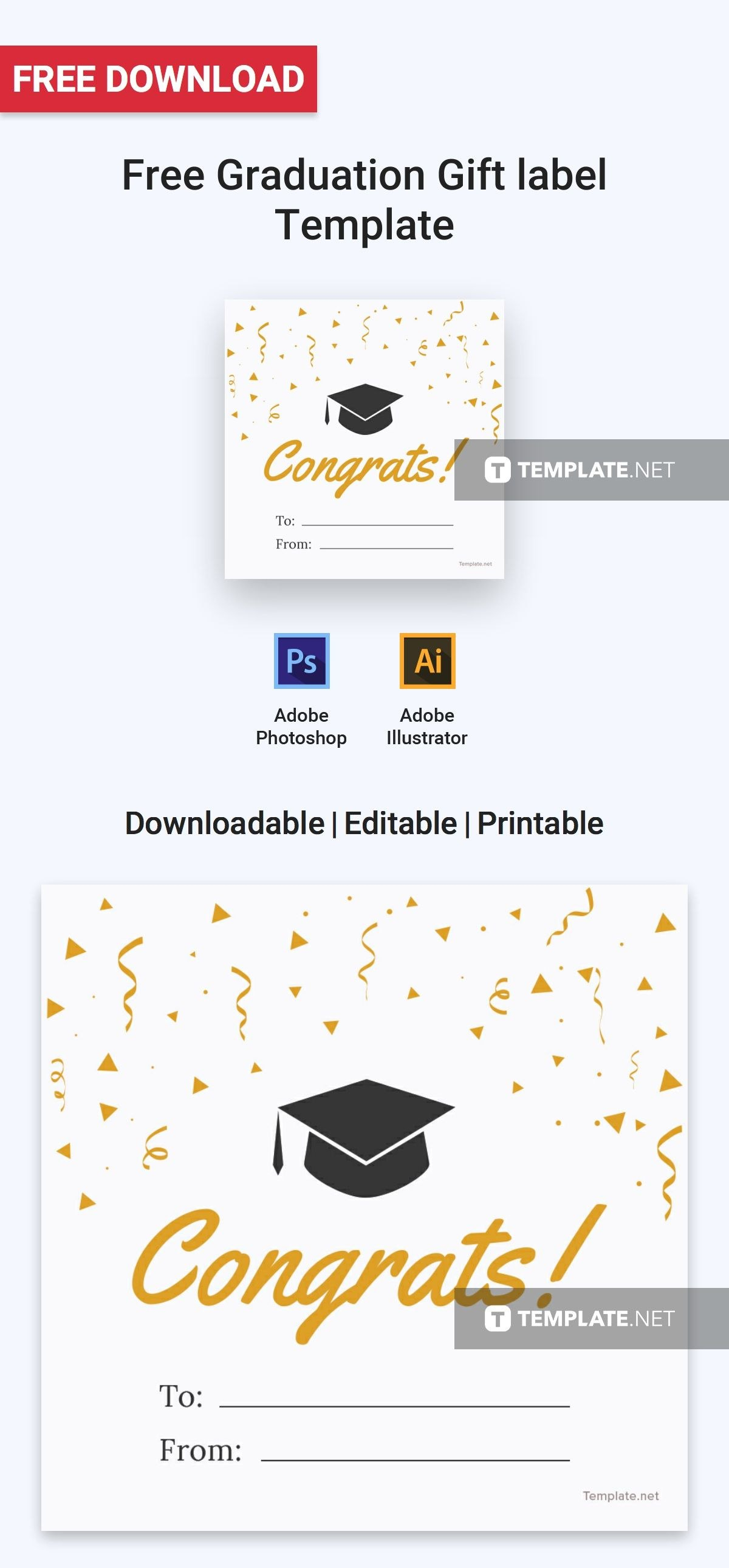 Free Graduation Gift Label  Label Templates  Designs   Label Pertaining To Artwork Label Template