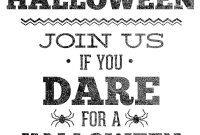Free Halloween Party Invitation Templates Template Shocking within Free Halloween Templates For Word
