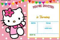 Free Hello Kitty Invitation  Free Printable Birthday Invitation throughout Hello Kitty Birthday Card Template Free