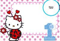 Free Hello Kitty St Birthday Invitation  Free Printable inside Hello Kitty Birthday Card Template Free