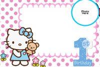 Free Hello Kitty St Birthday Invitation  Mickey  St Birthday regarding Hello Kitty Birthday Banner Template Free