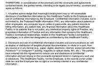 Free Hipaa Employee Nondisclosure Agreement Nda Template  Pdf regarding Word Employee Confidentiality Agreement Templates