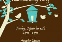 Free Housewarming Invitations Ideas  Little Bird Brown Housewarming in Free Housewarming Invitation Card Template