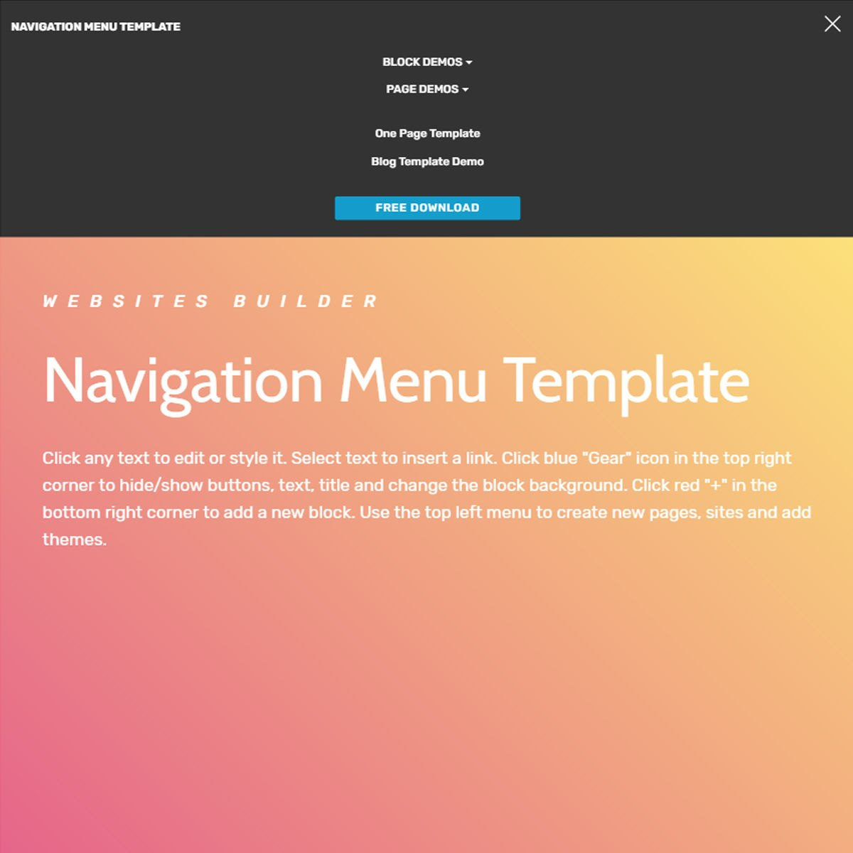 Free Html Bootstrap  Menu Template With Drop Down Menu Templates Free Download