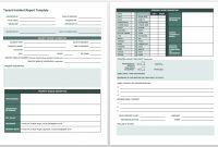 Free Incident Report Templates  Forms  Smartsheet in Shop Report Template