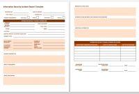 Free Incident Report Templates  Forms  Smartsheet regarding Information Security Report Template