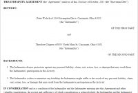 Free Indemnity Agreement  Create Download And Print  Lawdepot Us regarding Master Risk Participation Agreement Template