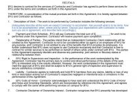 Free Independent Contractor Agreement Forms  Templates for Vendor Take Back Agreement Template