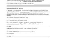 Free Independent Contractor Agreement Template  Pdf  Word  Eforms throughout Client Service Agreement Template