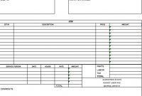 Free Independent Contractor Invoice Template Excel Pdf Word Labor with regard to Contract Labor Invoice Template