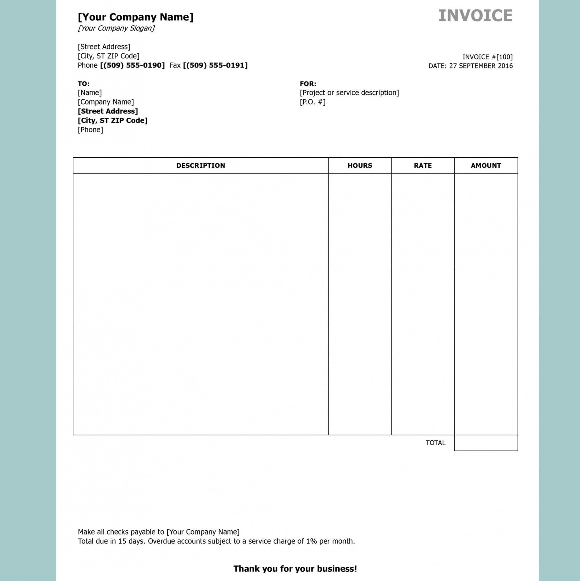 Free Invoice Template Download Ideas Openoffice Stupendous Ms Throughout Car Sales Invoice Template Free Download