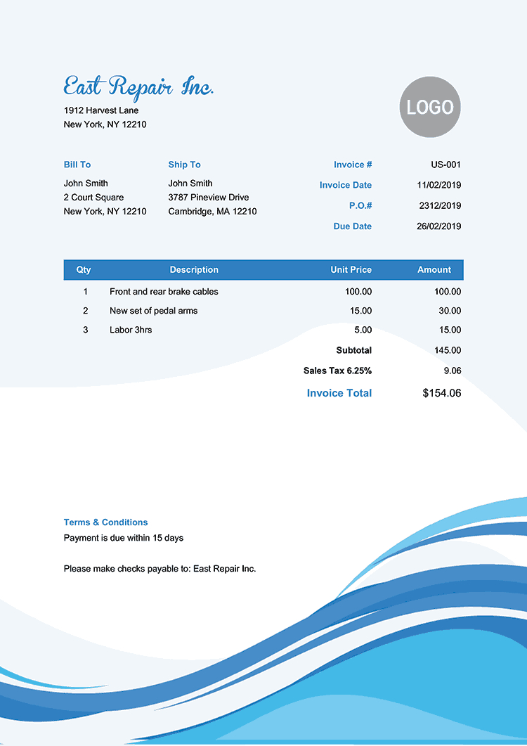 Free Invoice Templates  Print  Email As Pdf  Fast  Secure In Make Your Own Invoice Template Free