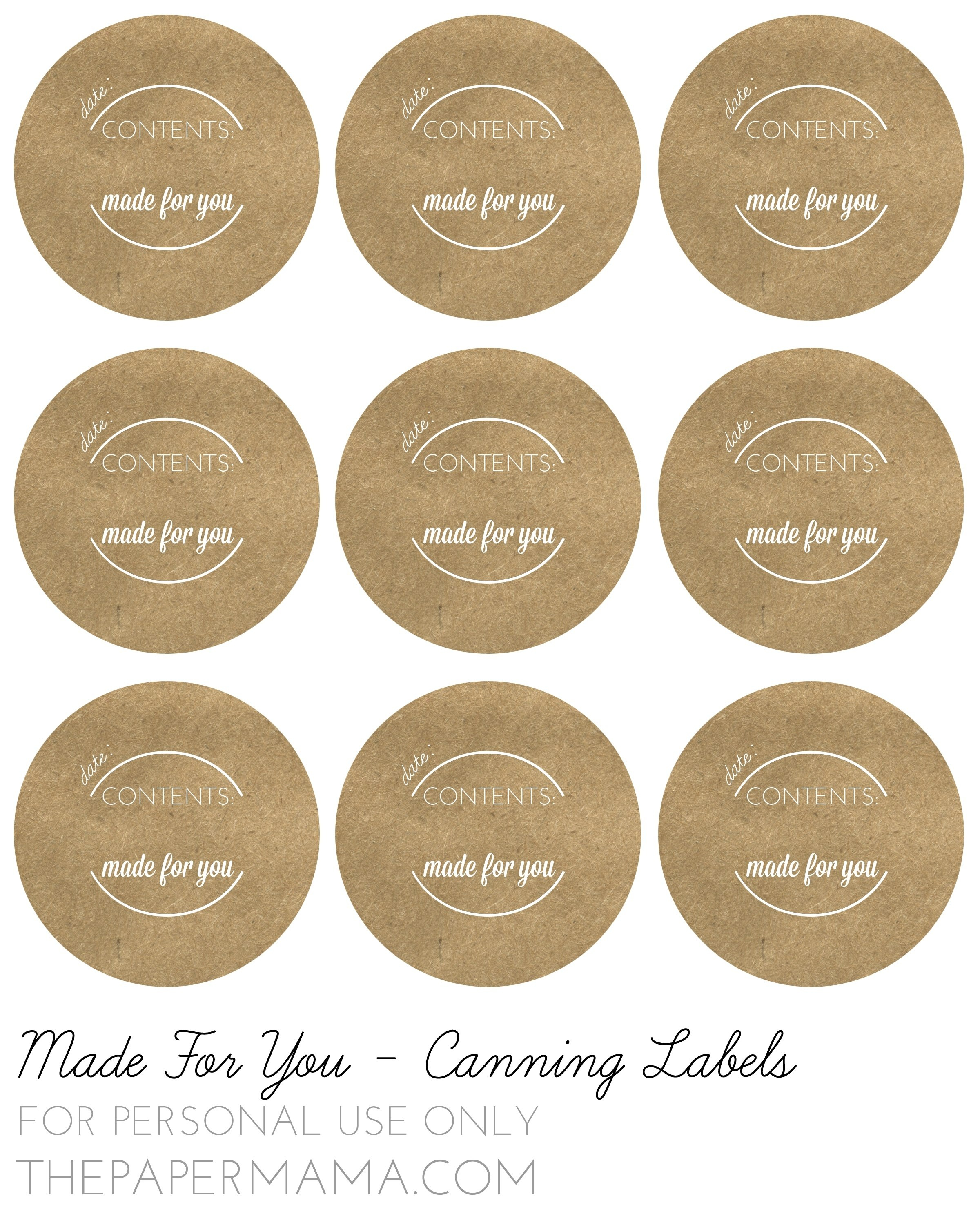 Free Jar Label Templates  World Of Label Intended For Mason Jar Label Templates