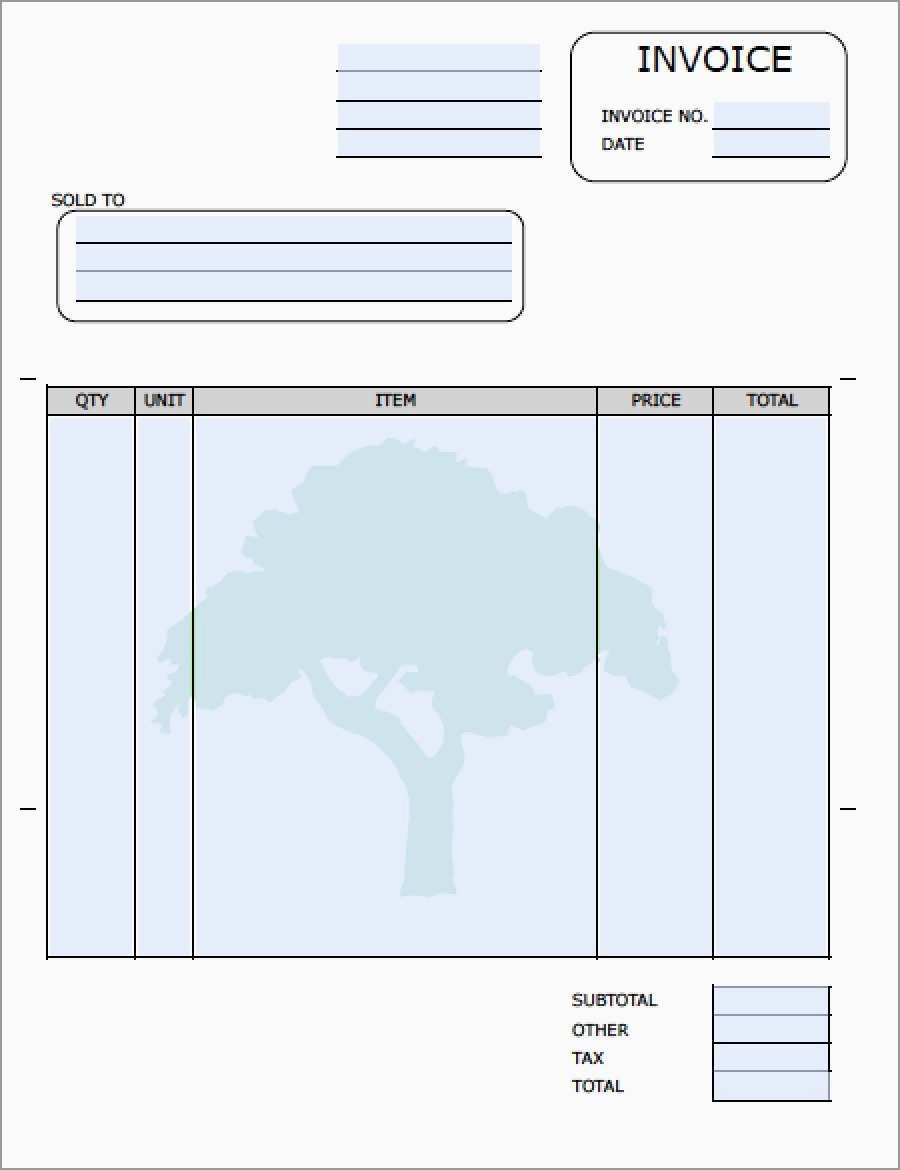 Free Lawn Care Templates Unique Landscaping Invoice Template  Best Intended For Gardening Invoice Template