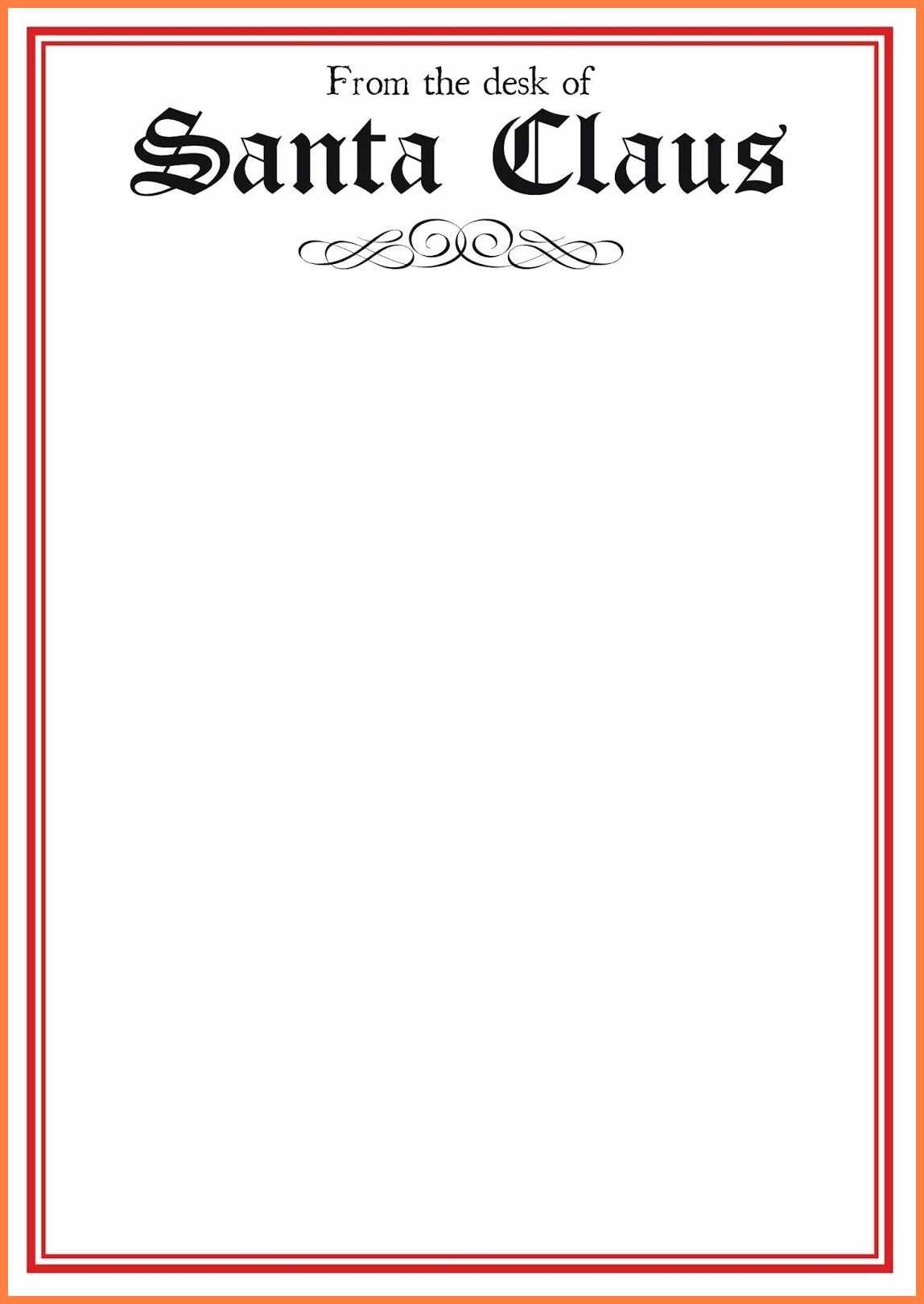 Free Letter From Santa Template In Word  Andrew Gunsberg For Santa Letter Template Word