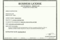 Free  License Certificate Template Besttemplatess Business regarding Certificate Of License Template