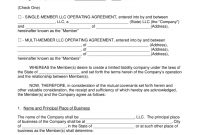Free Llc Operating Agreement Templates  Pdf  Word  Eforms – Free throughout Multiple Partnership Agreement Template