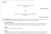 Free Loan Agreement  Create Download And Print  Lawdepot Us pertaining to Legal Contract Between Two Parties Template